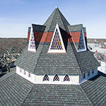Martha's Vineyard Chapel aerial shot
